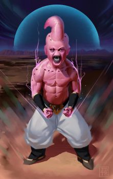 Kid Buu by johnnymorrow