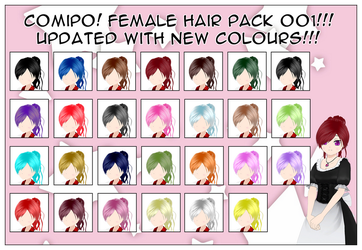 Female Hair Pack - 001 by NadeHakashi
