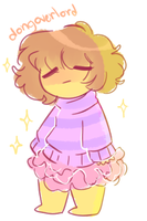 Tiny Frisk by dongoverlord