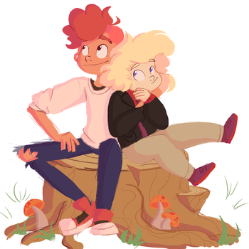 Lars and Sadie by ScribbleCate