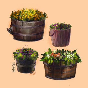 Flower Study 0.3 by Naomame