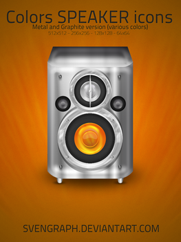 Color Speakers Icon Pack by Svengraph