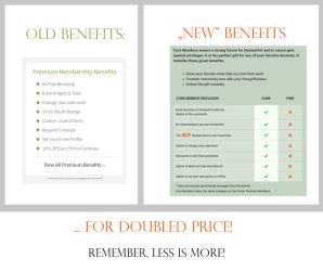 Less benefits, more money [Premium to Core change] by Noire-Ighaan
