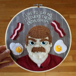 Ron Swanson Hoop by loveandasandwich