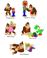 Team Names with Donkey Kong 1 by DarkDiddyKong