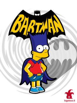 Bartman: the simpsons superheroes by logolocoadv