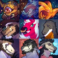 COMMISSIONS_Icons_Batch 4 by BagelHero-Works