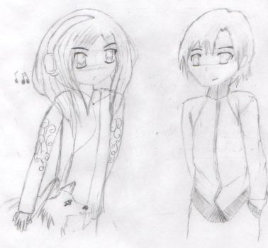 The Two Of Them Sketch by USA-FilipinoArtista