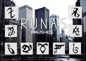 Runas Brushes by mary-rushergrey
