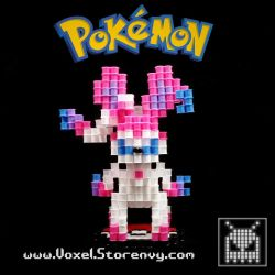 Sylveon (Pokemon) by VoxelPerlers