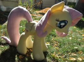 Fluttershy Plushie (commission) by StitchCometCreations
