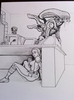 alien isolation (sketch) by fpobama