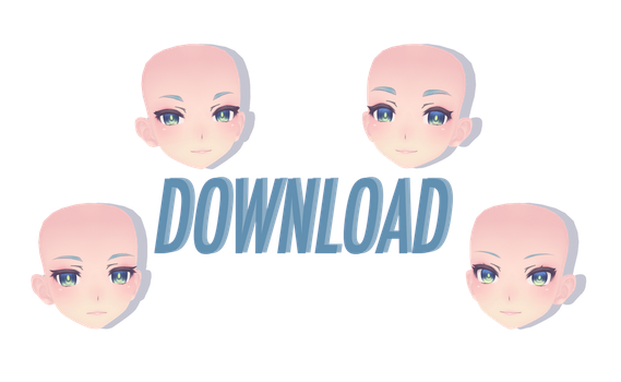MMD parts DL - Tda face edits by FrenchFriesTsun