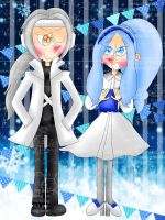 Weiss and Hiumi [Pop'n Music] by the01angel