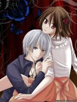 Vampire Knight-Zero and Yuuki by akome1206