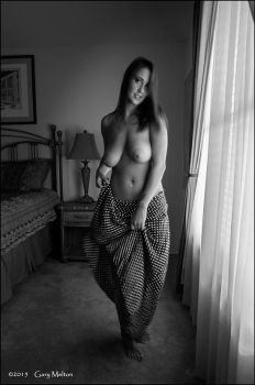 Olivia in black and white... by Gary-Melton