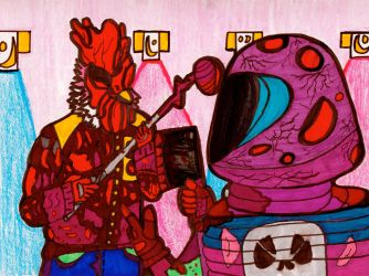 Hotline Miami Stand Off by SlimStephen