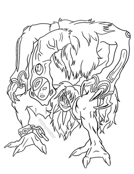 Some Veiny Throbby Demon Mask Monster idk by spoonyliger