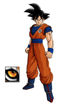Goku with Kame Emblem Render by RyuuketsuEG