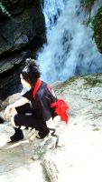 Sasuke. waterfalls. 3 by Sasuko555