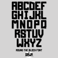 Round the Block Font by Sinner-PWA