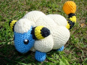 Mareep Plushie by HidingInTheClouds
