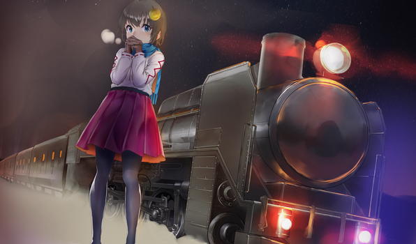 Anicoin 07 Train GIRL by toxicguest