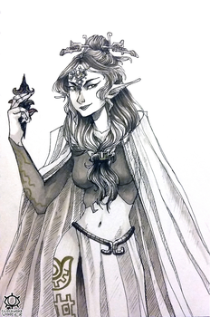 Midna in Markers by clockworkViper