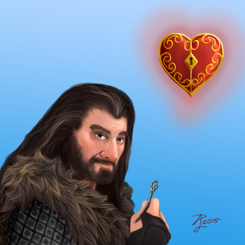 Hobbit Valentines ~ Thorin by Contraltissimo