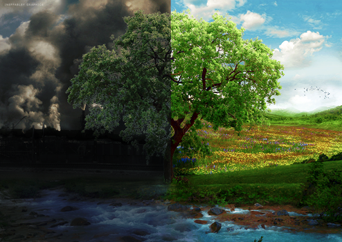 Air Pollution - The Difference by ineffablely