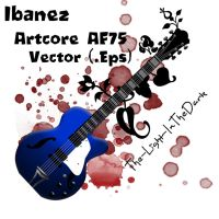 Ibanez Artcore AF75 Vector by The-Light-InTheDark
