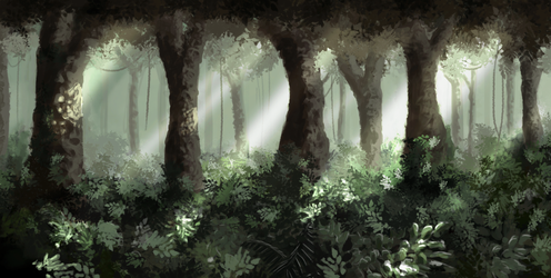 Encore une foret by Abstractivity-Art