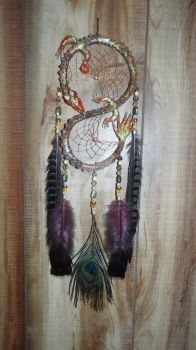 Organite resin dragon dream catcher by KenshinKyo