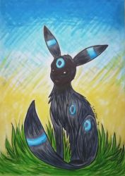 Shiny Umbreon by Icewither