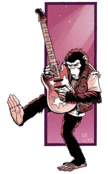 Rock and Roll Chimpanzee by ReillyBrown