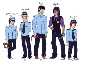 FNaF Guards by KittyAndTheCreeps