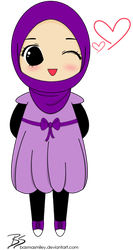Female Muslim Chibi by BasmaSmiley