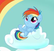 Filly Rainbow Dash by pridark