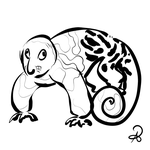 Inktober 2018 #9 - Black-spotted cuscus by callanerial