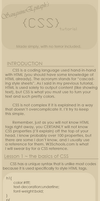 CSS Tutorial 1.0 by SanguineEpitaph