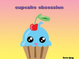 Cupcake Obsession Wallpaper by sugaredheart