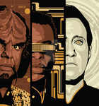 Star Trek - Worf, Geordi, Data