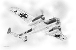 Dornier Do17Z Drawing by DouglasCastleman