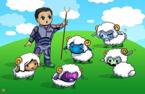 Shephard and his Sheep by TyrineCarver