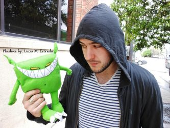 My Feed Me plushie with Jon Gooch (Feed Me) by SpiderRabbit