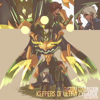 Keepers of Ultra Zygarde Custom Commission by AutobotTesla