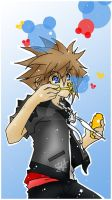 Sora - Mickey Bubbles by shirononekojin