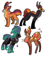4 FREE creature adoptables CLOSED by Pettablez