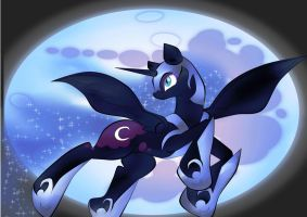 MLP Fan Art - Nightmare Moon by FlairNightz