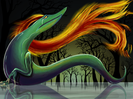Sorrowful Snake Creature by KT-245